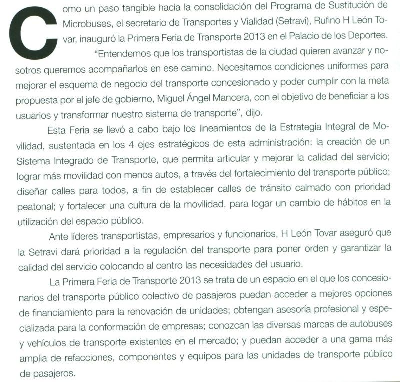 Revista Magazzine del Transporte Julio 2013 Pag. 28A