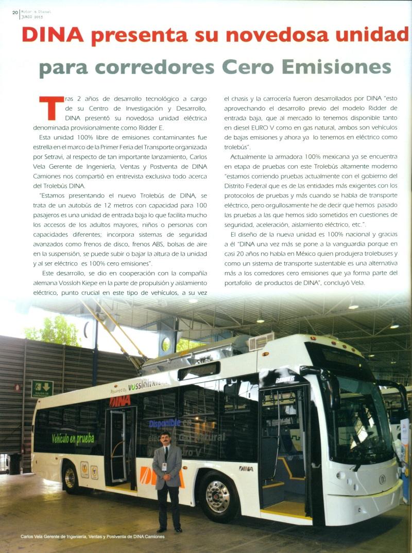 DINA presenta su novedosa unidad para corredores Cero emisiones