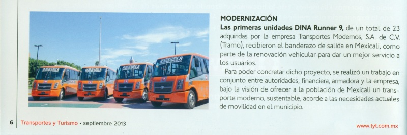 Revista %22Transportes y Turismo%22 Septiembre 2013 Pag. 6