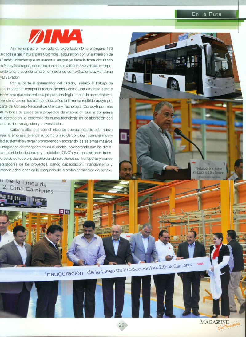 Revista Magazzine del Transporte Agosto 2013 Pag. 29