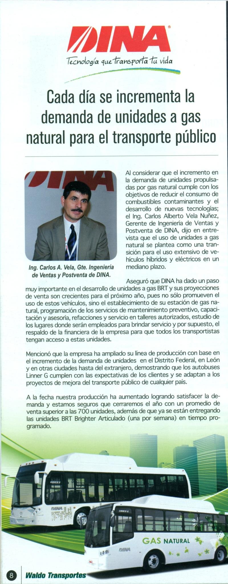 Revista Waldos Transporte Octubre 2013 Pag.8