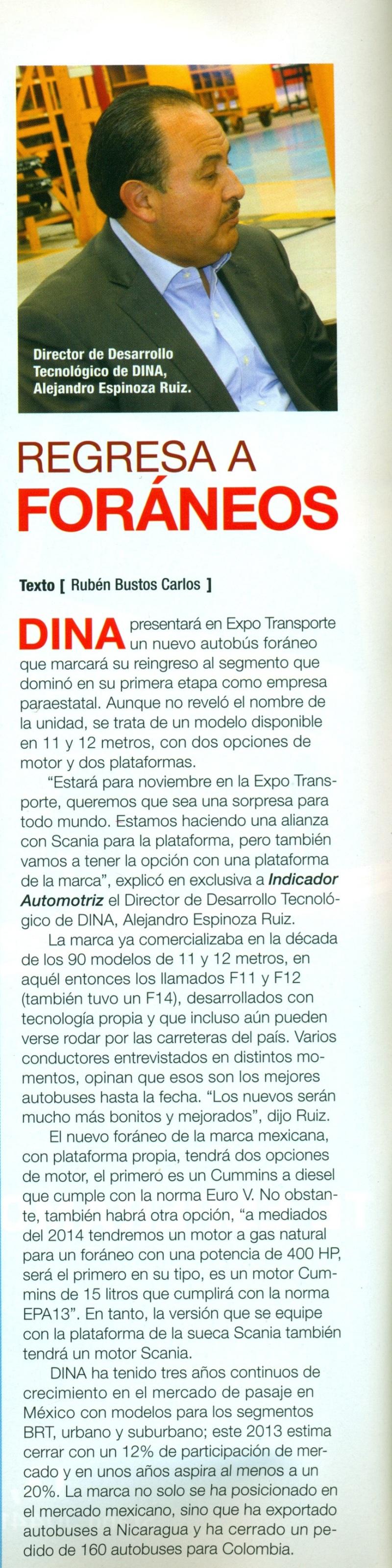 Revista %22Indicador Automotriz%22 Noviembre 2013 Pag. 50
