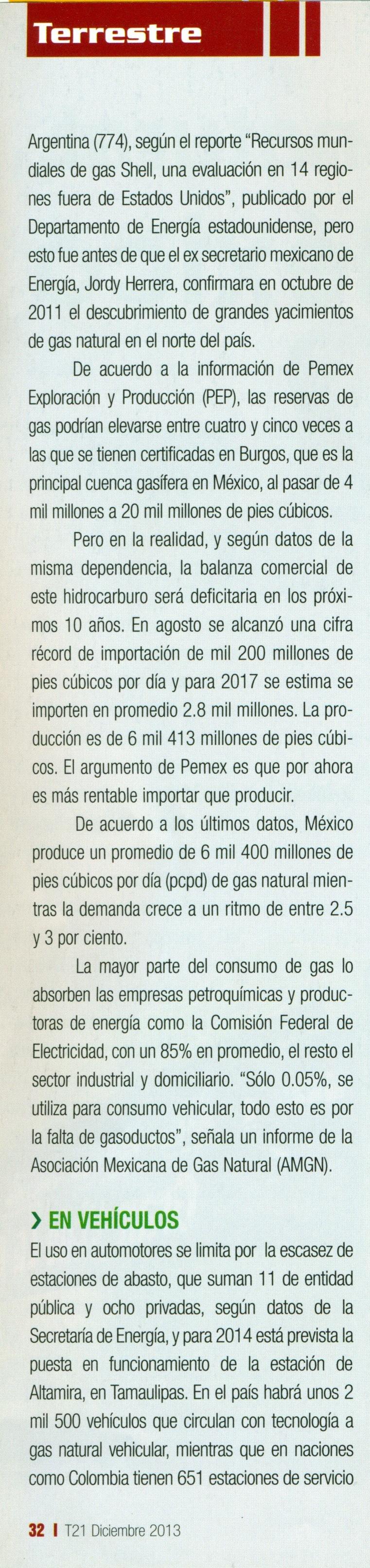 Revista %22T21%22 Diciembre 2013 Pag. 32