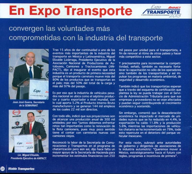 Revista %22Waldo Transportes%22 Enero 2014 Pag. 28