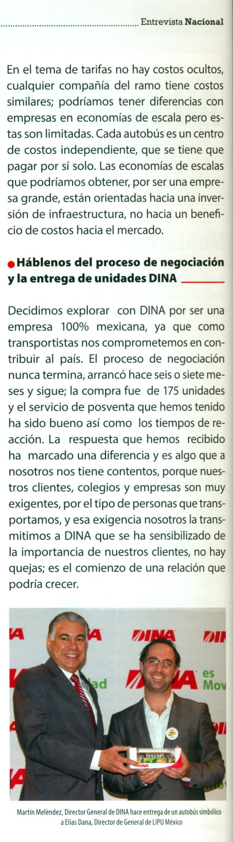 Revista %22Pasajero 7%22 Febrero 2014 Pag. 11A