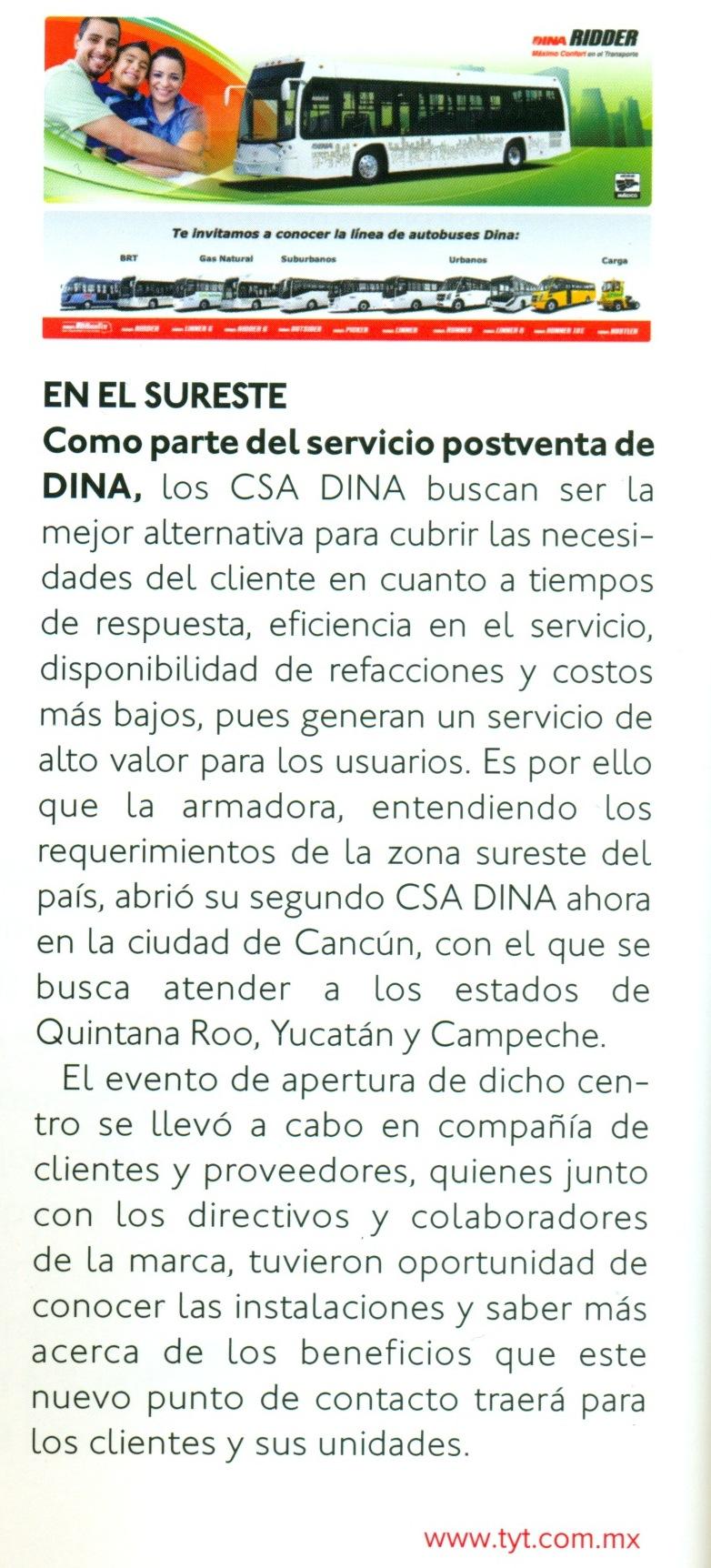 Revista %22Transportes y Turismo%22 Febrero 2014 Pag. 14