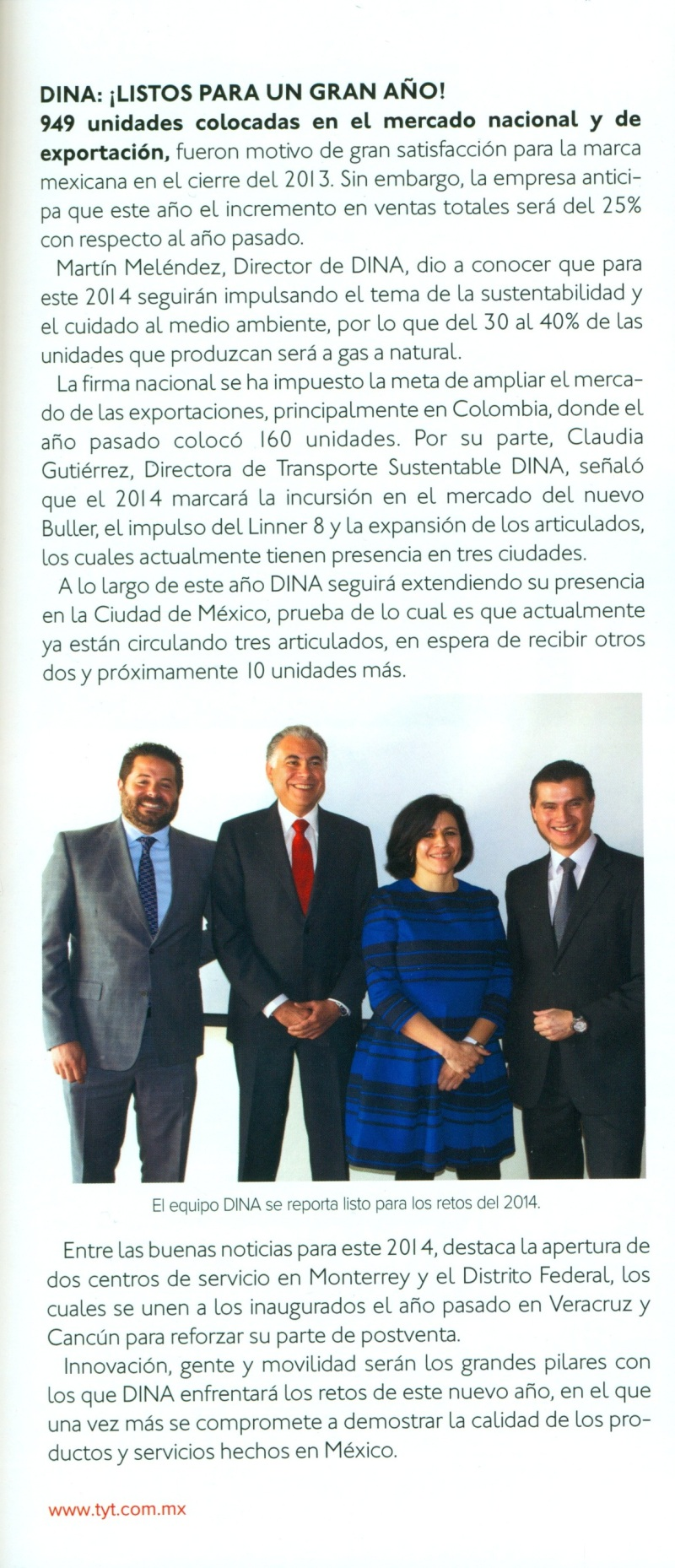 Revista %22Transportes y Turismo%22 Febrero 2014 Pag. 17