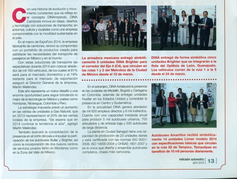 Revista %22Indicador Automotriz%22 Abril 2014 Pag. 13A