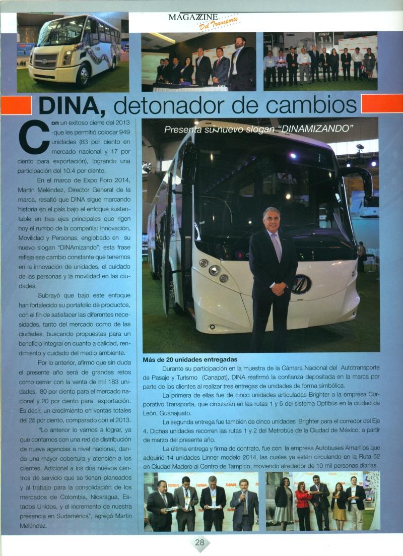 Revista %22Magazzine del Transporte %22 Abril 2014 PAg. 28