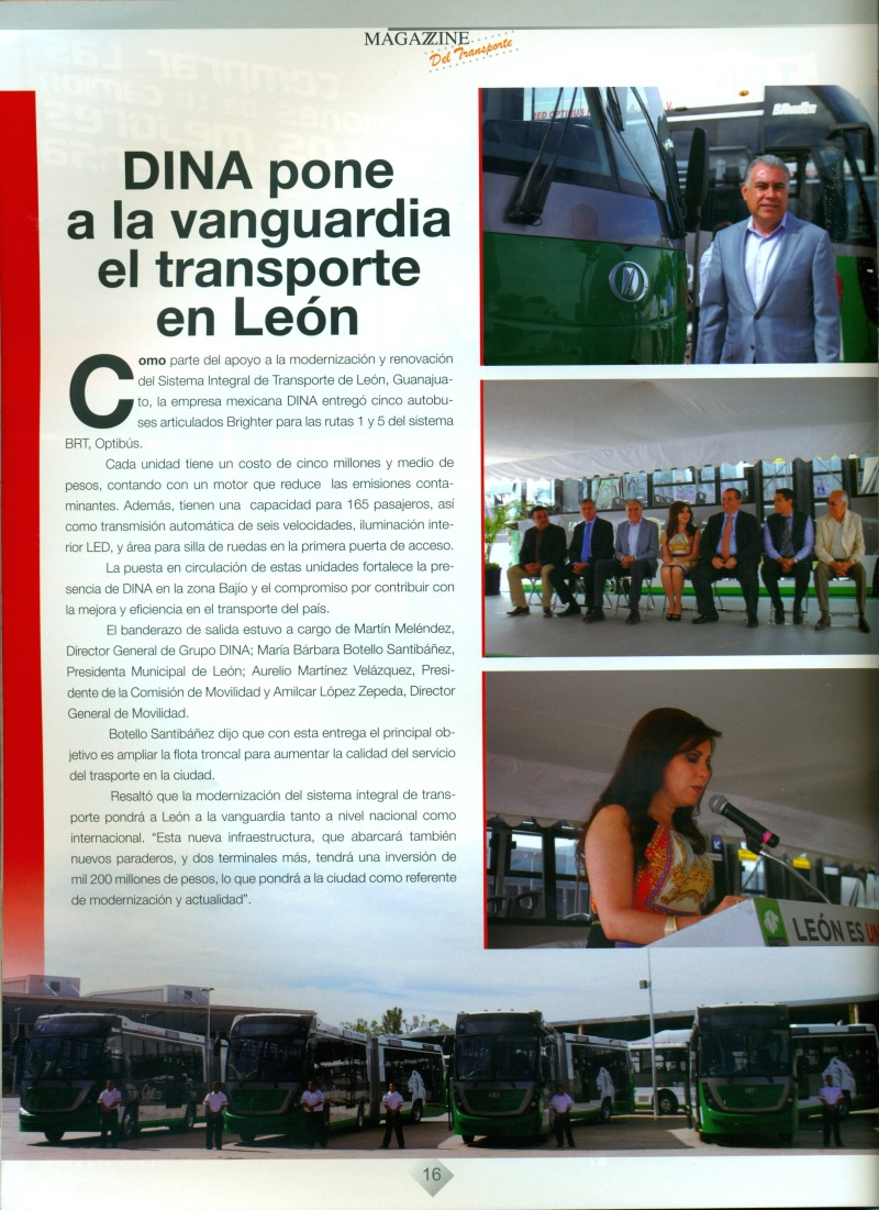 Revista %22Magazzine del Transporte%22 Abril 2014 Pag. 16