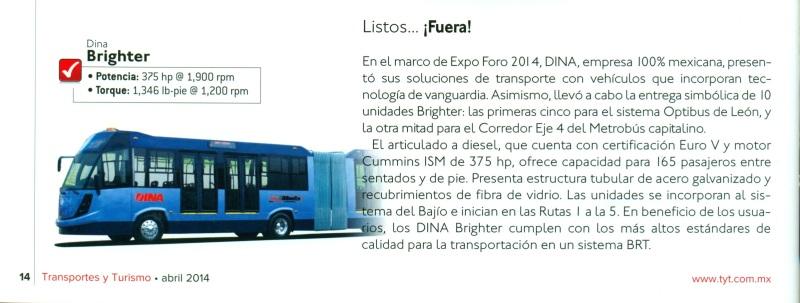 Revista %22Transportes y Turismo%22 Abril 2014 Pag. 14