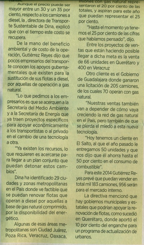 Periódico %22El Norte%22 31 de Mayo 2014 Sección Automotriz Pag. 9A  copia 2