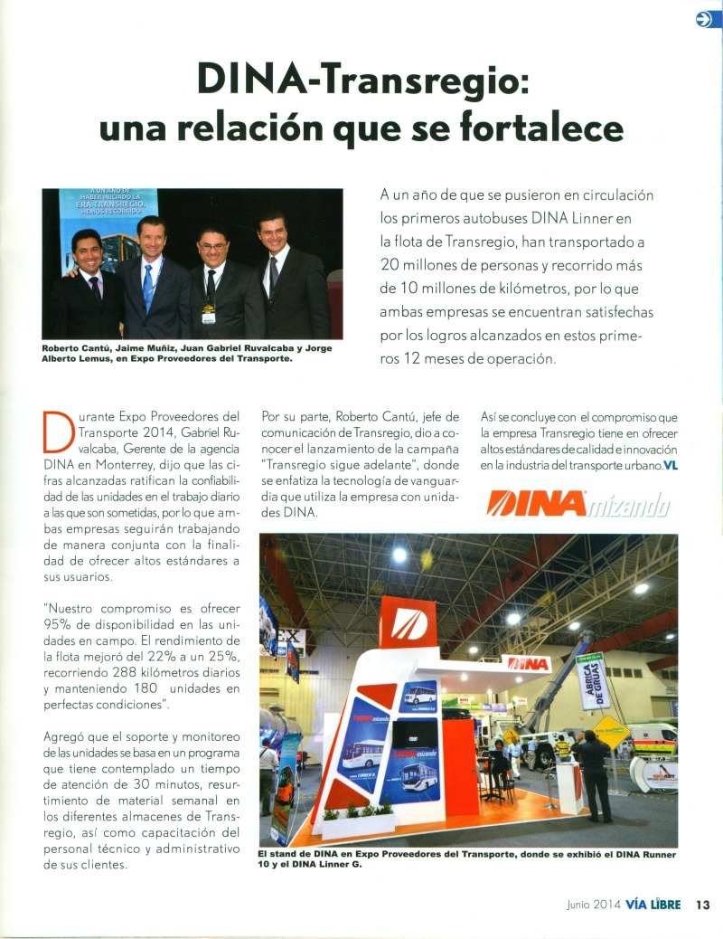 Revista %22Vía Libre%22 Junio 2014 Pag. 13